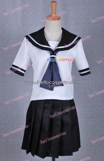 Black Rock Shooter Costume Mato Kuroi School Girl Uniform