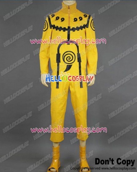 Naruto Cosplay Naruto Uzumaki Tailed Beast Chakra Mode Costume