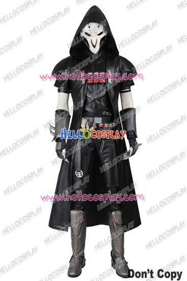 Overwatch Reaper Cosplay Costume Uniform