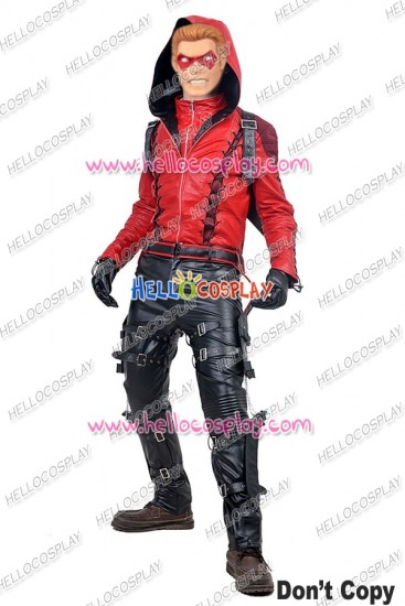 Green Arrow 3 Red Arrow Roy Harper Cosplay Costume