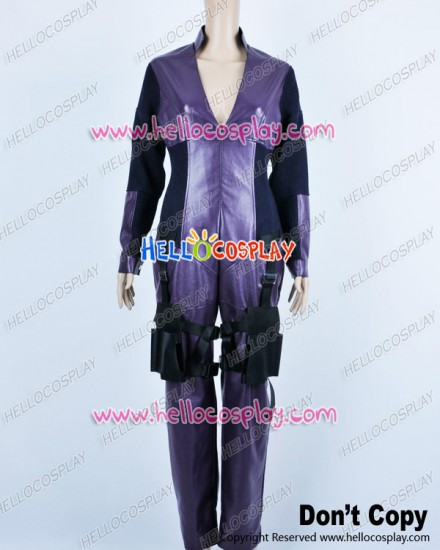 Resident Evil Retribution Cosplay Jill Valentine Purple Jumpsuit Costume