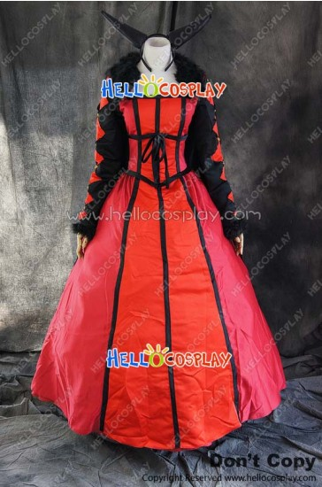 Maoyu Archenemy And Hero Cosplay Demon King Mao Red Dress Costume
