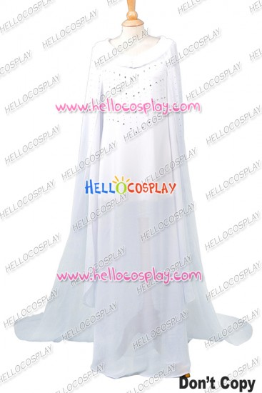 The Hobbit: The Battle of the Five Armies Galadriel Dress Cosplay Costume