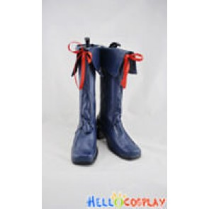 AKB0048 Cosplay Shoes Chieri Sono Boots Dark Blue