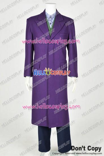 Batman The Joker Cosplay Costume Purple Full Set