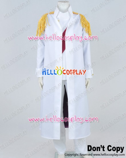 One Piece Warring States Cosplay Buddha White Uniform Costume