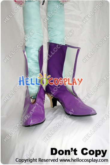 Macross Frontier Cosplay Sheryl Nome Short Boots Purple