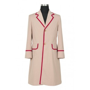 Doctor The 5th Doctor Fifth Dr Peter Davison Cosplay Costume Trench Coat