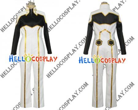 Code Geass Suzaku Kururugi Cosplay Costume Jumpsuit