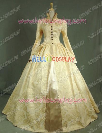 Victorian Lolita Queen Elizabeth Tudor Historical Gothic Lolita Dress Golden Floral