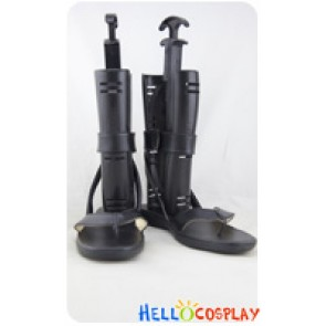 Naruto Cosplay Tobirama Senju Black Leather Sandals Shoes