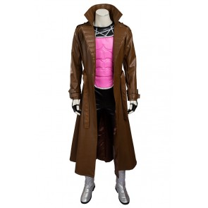 X Men Gambit Remy LeBeau Cosplay Costume Uniform