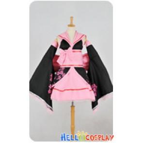 Vocaloid 2 Cosplay Hatsune Miku Pink Sakura Kimono Dress Costume
