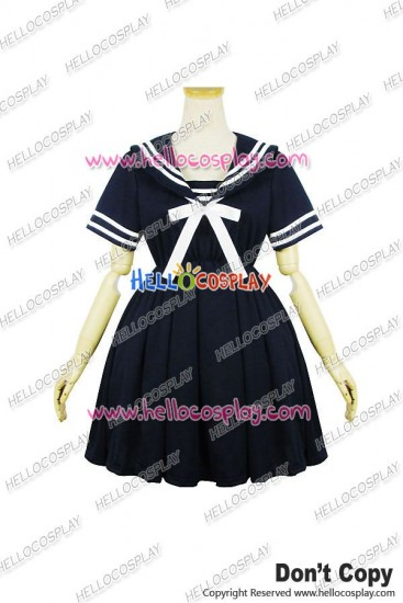 Lolita Cosplay Harajuku Navy Dress Dark Blue