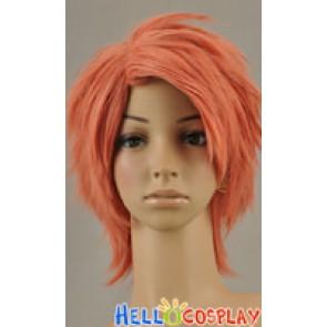 Orange Pink Short Wig Layered Cosplay Wig