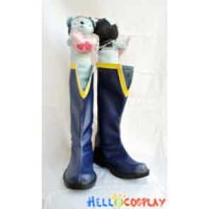 Puella Magi Madoka Magica Cosplay Sayaka Miki Blue Boots