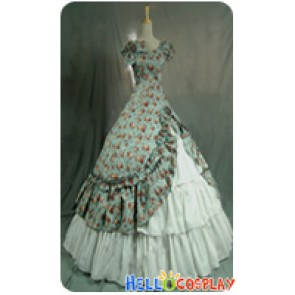 Victorian Lolita Southern Belle Theatre Gothic Lolita Dress Green Floral