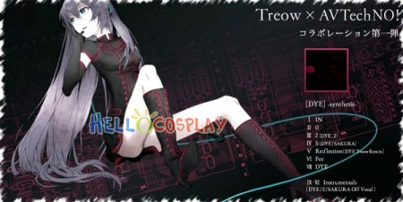 Vocaloid 2 Cosplay Luka Megurine Dress DYE -Synthesis- Song-Over