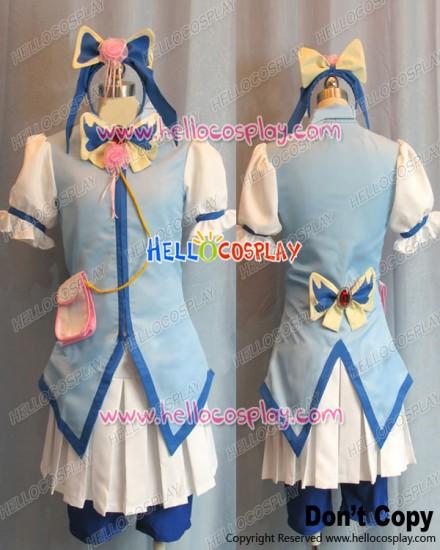 Yes PreCure 5 GoGo Cosplay Cure Aqua Karen Minazuki Costume