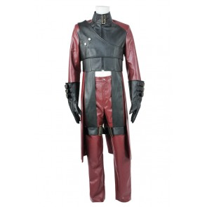 Devil May Cry DMC 2 Cosplay Dante Red Leather Uniform Costume