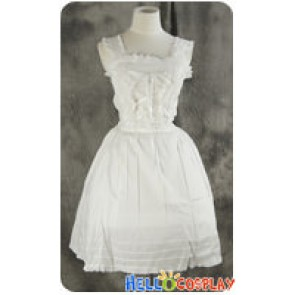 Gothic Lolita Cosplay White Sweet Summer Dress Costume