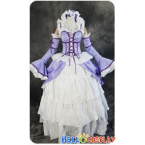 Chobits Cosplay Chi Purple White Formal Dress Costume