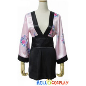 Angel Feather Cosplay Contract Kimono Dress Costume