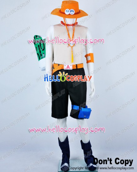 One Piece Cosplay Portgas D Ace Costume Full Ver