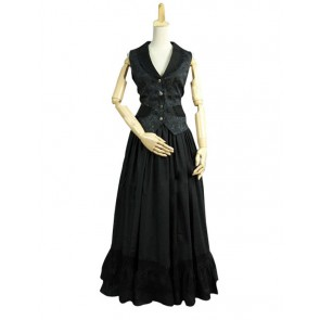 Victorian Lolita Edwardian 1900s Period Gothic Lolita Dress Black