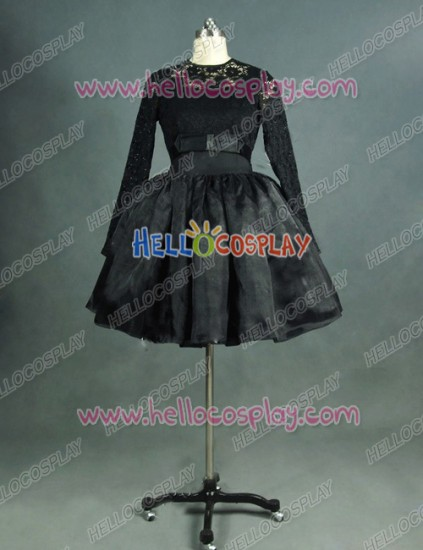 Victorian Lolita Steampunk Black Gothic Lolita Dress