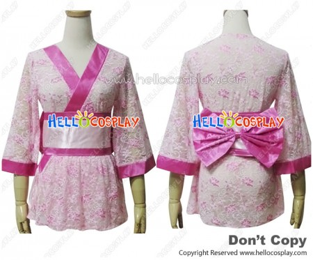 Angel Feather Cosplay Lace Kimono Dress