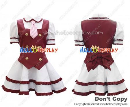 Niconico Cosplay Red School Girl Uniform Formula Costume
